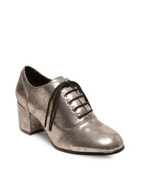Lord & Taylor | Metallic Suzia Lace-up Round Toe Oxfords | Lyst