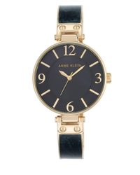 Anne Klein | Blue Round Bangle Watch | Lyst