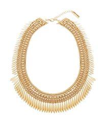 Steve Madden | Metallic Snake Bead & Box Chain Diamond Shape Disc Station Necklace | Lyst