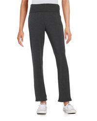 Marc New York | Gray Fold-over Knit Pants | Lyst