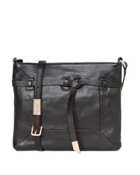 Foley + Corinna | Black Lea Leather Crossbody Bag | Lyst