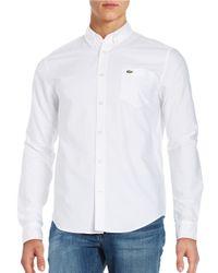 Lacoste | White Oxford Sportshirt for Men | Lyst