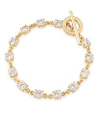 Carolee | Metallic Gold-tone Crystal Toggle Bracelet | Lyst