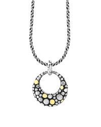 Effy | Metallic Sterling Silver And 18k Yellow Goldplated Diamond Pendant Necklace | Lyst