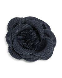 Hook + Albert | Blue Flower Lapel Pin | Lyst