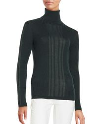 DKNY | Green Ribbed Turtleneck Sweater | Lyst