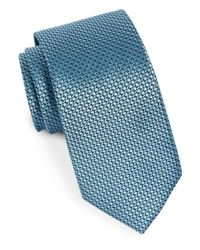 MICHAEL Michael Kors | Blue Ring Neat Silk Woven Tie for Men | Lyst