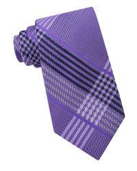 MICHAEL Michael Kors | Purple Tracks Plaid Silk Tie for Men | Lyst