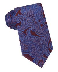 MICHAEL Michael Kors | Purple Scalloped Paisley Silk Tie for Men | Lyst