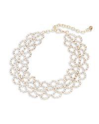 R.j. Graziano | Metallic Scalloped Choker Necklace | Lyst