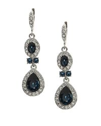 Givenchy | Metallic Pear-shaped Pave Crystal Double Drop Earrings | Lyst