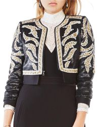 BCBGMAXAZRIA | Black Duke Sequined Bolero Jacket | Lyst