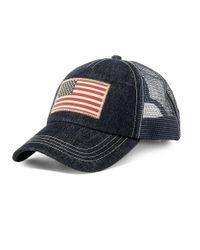 Polo Ralph Lauren | Blue Mesh Trucker Denim Baseball Cap for Men | Lyst