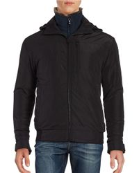 Weatherproof | Black Rugged Oxford Bomber Jacket for Men | Lyst