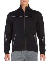 Calvin Klein | Black Zip-front Mockneck Jacket for Men | Lyst