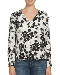 1.STATE | White Floral Printed Blouse | Lyst