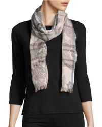Lord & Taylor | Multicolor Floral Paisley Scarf | Lyst