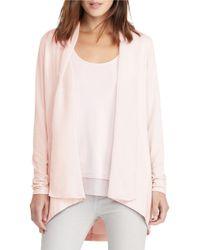 Lauren by Ralph Lauren | Pink Petite Ariabod Open-front Jersey Cardigan | Lyst