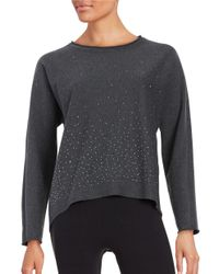 Marc New York | Gray Embellished Hi-lo Sweatshirt | Lyst