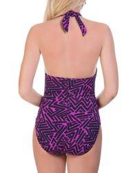 Magicsuitr - Purple Kara One-piece Printed Swimsuit - Lyst