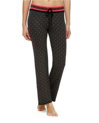 Kensie | Gray Xoxo Heart-print Jersey Sleep Pants | Lyst