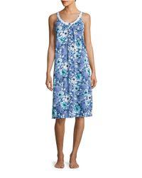 Carole Hochman | Blue Floral Nightgown | Lyst