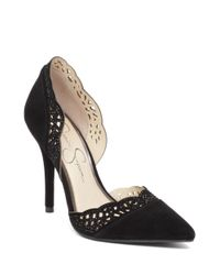 Jessica Simpson | Black Teriann Scalloped Edge D'orsay Pumps | Lyst