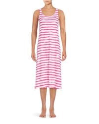 Lauren by Ralph Lauren | Pink Striped Cotton Nightgown | Lyst