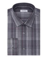 Calvin Klein   Blue Regular-fit Cotton Dress Shirt for Men   Lyst