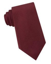 Calvin Klein   Red Silk Neat Tie for Men   Lyst