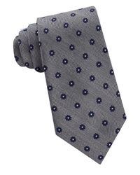 Lord & Taylor | Blue Floral Dot Patterned Silk Neck Tie for Men | Lyst