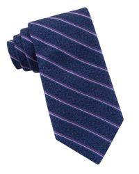 Michael Kors | Purple Narrow Striped Silk Tie for Men | Lyst