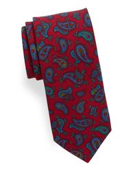 Ted Baker | Red Paisley Wool Tie for Men | Lyst