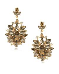 Carolee | Metallic Metropolitan Club Statement Chandelier Clip-on Earrings | Lyst