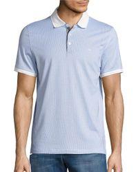 Michael Kors | Blue Patterned Polo Shirt for Men | Lyst