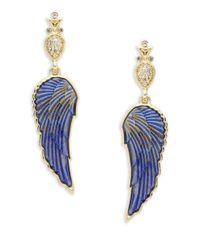 House of Harlow 1960 | Blue Avium Wing Drop Earrings | Lyst