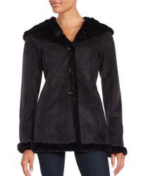 Gallery | Black Faux Fur Hooded Jacket | Lyst