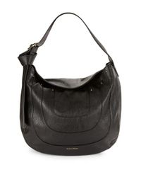 Calvin Klein | Black Nola Textured Hobo Bag | Lyst