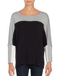 Calvin Klein | Gray Colorblocked Dolman Top | Lyst
