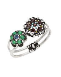 Gerard Yosca | Metallic Floral Endcap Hinge Bracelet | Lyst