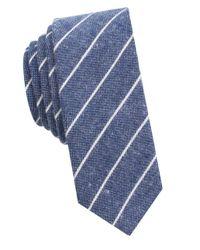 Original Penguin - Blue Striped Cotton Tie for Men - Lyst