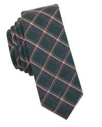 Original Penguin   Green Plaid Cotton Tie for Men   Lyst