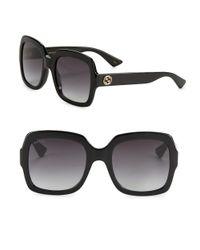 Gucci | Black 54mm Oversized Square Sunglasses | Lyst