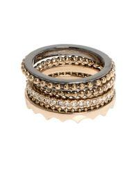 Jenny Packham | Metallic Stack Rings-set Of 4 | Lyst