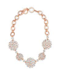 Anne Klein | Pink Cubic Zirconia Collar Necklace | Lyst