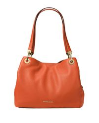 MICHAEL Michael Kors | Orange Large Leather Shoulder Bag | Lyst