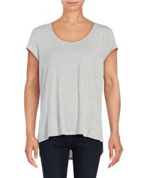 Lord & Taylor   Gray Solid Pocket Tee   Lyst