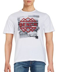 Bench | White Graphic Logo Tee for Men | Lyst