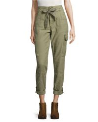 Free People | Green Don't Get Lost Embellished Drawstring Cargo Pants | Lyst