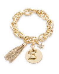 R.j. Graziano | Metallic E Initial Chain-link Charm Bracelet | Lyst